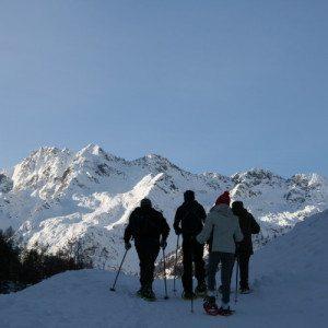 Ciaspolata sulle Alpi