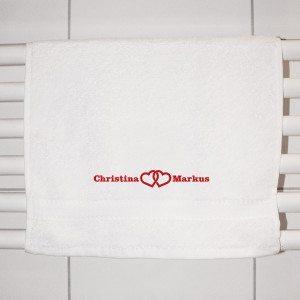 """Asciugamano per Ospiti """"Cuore"""" con Ricamo personalizzato"""