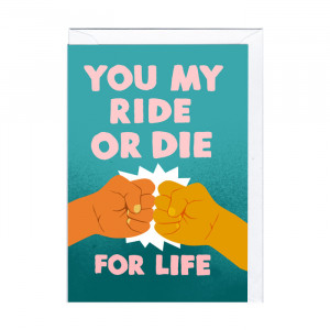 """Grußkarte """"Ride or Die"""""""