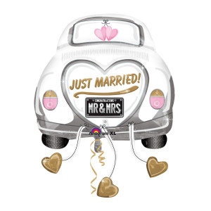 "HELIUM-LUFTBALLON ""JUST MARRIED"" (HOCHZEITSAUTO)"