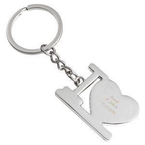 I love Schlüsselanhänger mit Gravur