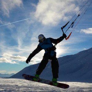 Lezioni individuali di Snowkite - Valle d'Aosta