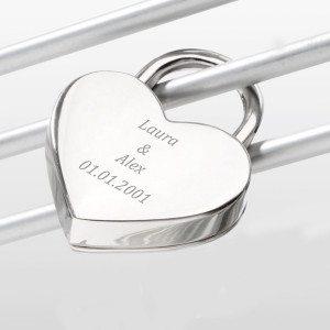 Lucchetto romantico personalizzabile Cuore