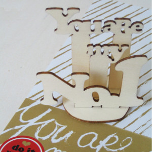 "Mini-Holzpuzzle ""You are my No. 1"""