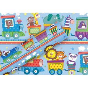 papel de regalo happy train