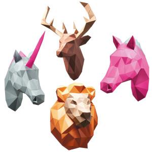 PaperShape: Bastelset für Origami-Tierköpfe