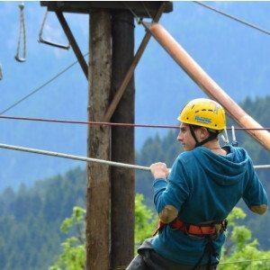 Percorso avventura sulle sponde del fiume Noce - Trentino