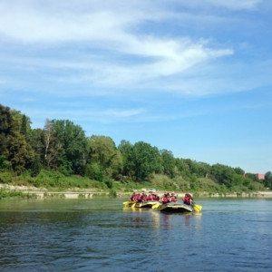 Rafting alla riserva naturale di Nazzano Tevere-Farfa - Roma