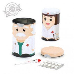 Scatola per medicinali - Dottor Botiquín e infermiera