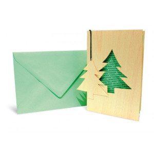 Carta d'auguri - Abete