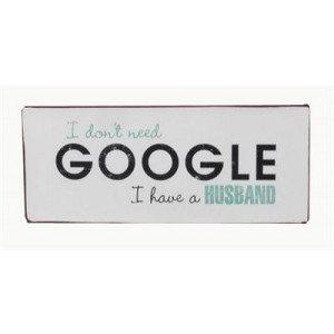 "Targa in metallo - Google ""Husband"""