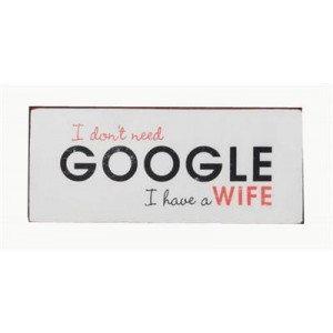 """Targa in metallo - Google """"Wife"""""""