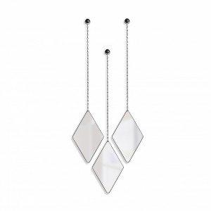 Dima - Specchio con pendenti e polvere di metallo