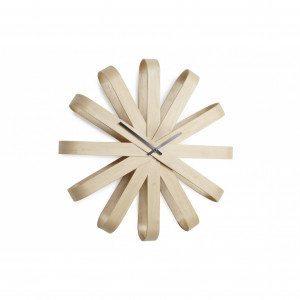 Ribbonwood - orologio da parete in legno