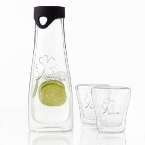 Leonardo: Caraffa con due bicchieri da personalizzare