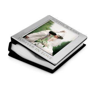 Silbernes Fotoalbum mit Gravur