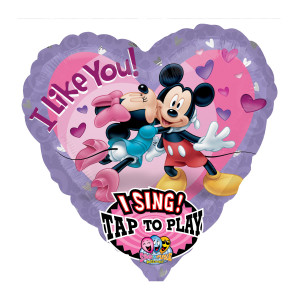 "SINGENDER HELIUM-LUFTBALLON ""MICKEY & MINNIE IN LOVE"""