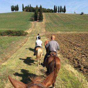 Soggiorno romantico, cena ed escursione a cavallo - Siena