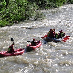 Tour rafting facile sul fiume Rienza - Val Pusteria, Sud Tirolo
