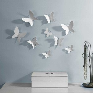 """Wanddeko """"Weiße Schmetterlinge"""""""