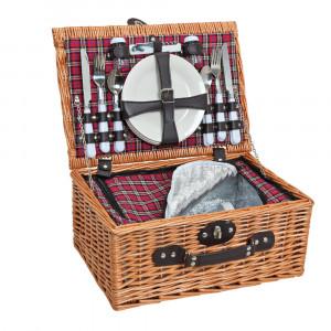 Weiden-Picknickkorb (25-teilig)
