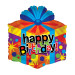 """HELIUM-LUFTBALLON """"HAPPY BIRTHDAY"""" (GESCHENKKARTON)"""