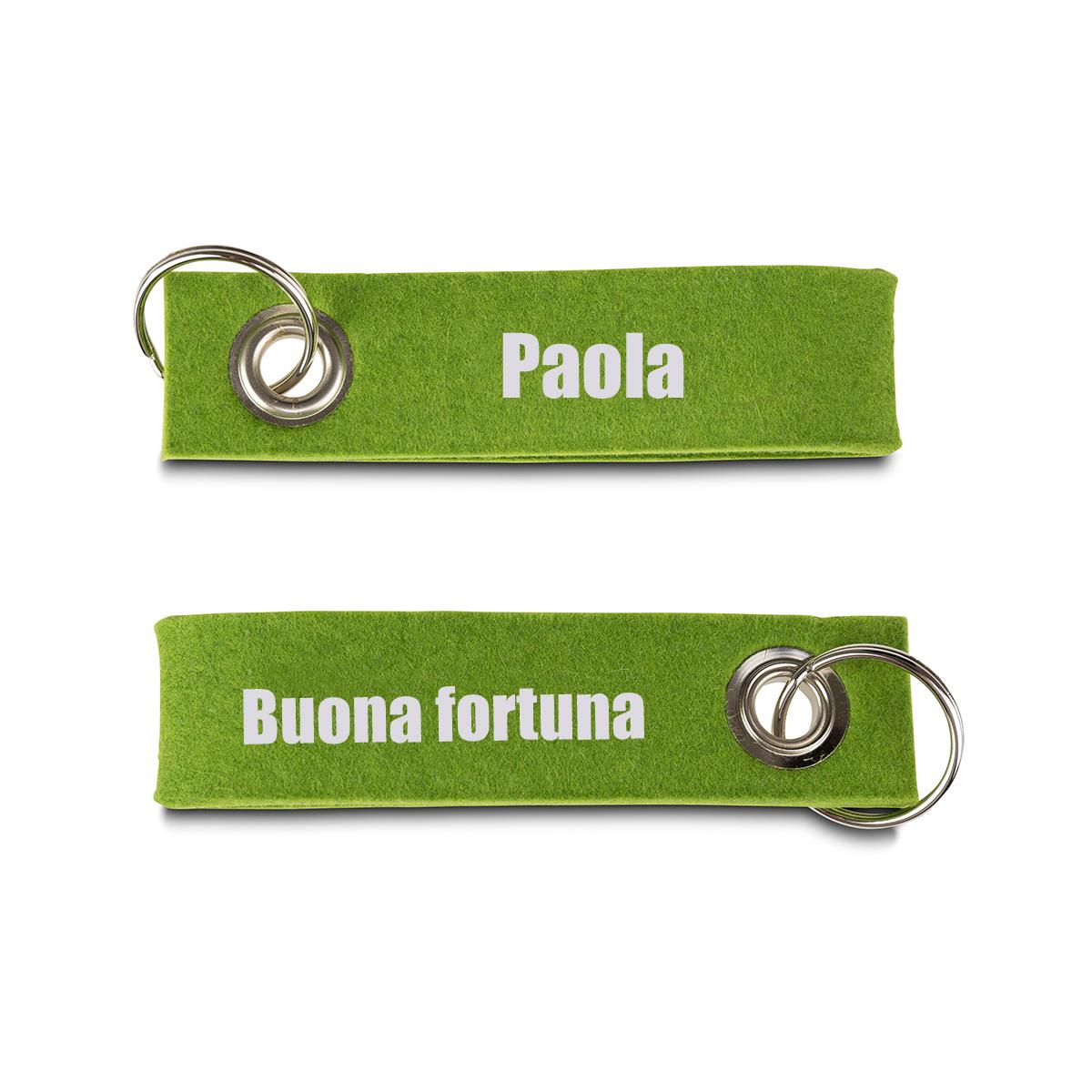Image of Portachiavi personalizzato in Feltro - Buona Fortuna