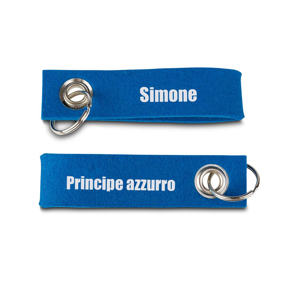 Image of Portachiavi personalizzato in Feltro - Principe Azzurro